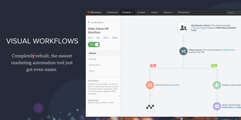 Visual Workflows for HubSpot