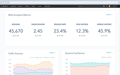 Updated Reporting Dashboard for HubSpot